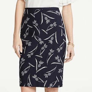 Ann Taylor Pineapple Skirt Navy NWT